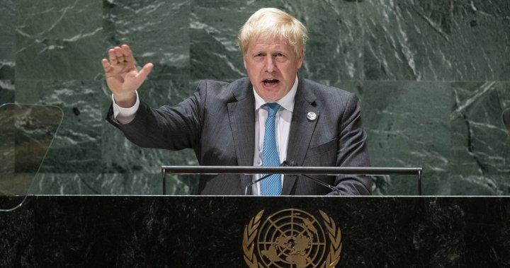 U.K.'s Boris Johnson says humanity needs to 'grow up,' face climate crisis at U.N. – National   Globalnews.ca
