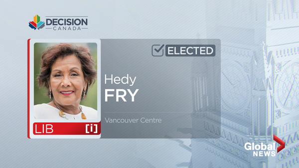 Longtime MP Hedy Fry elected in Vancouver Centre for 10th consecutive time - image