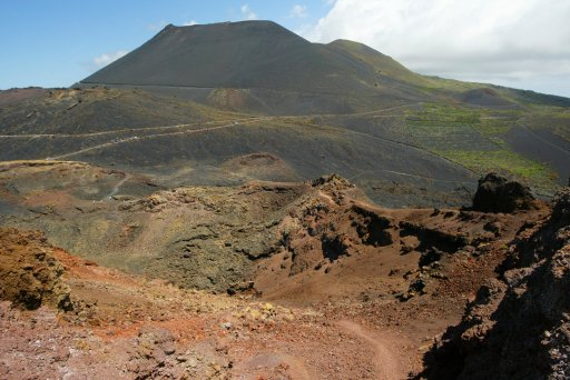 General view of Cumbre Vieja, an area in the south of the island that could be affected by a possible volcanic eruption, on 14 Sept., 2021 in Cumbre Vieja, La Palma, Canary Islands, Spain.