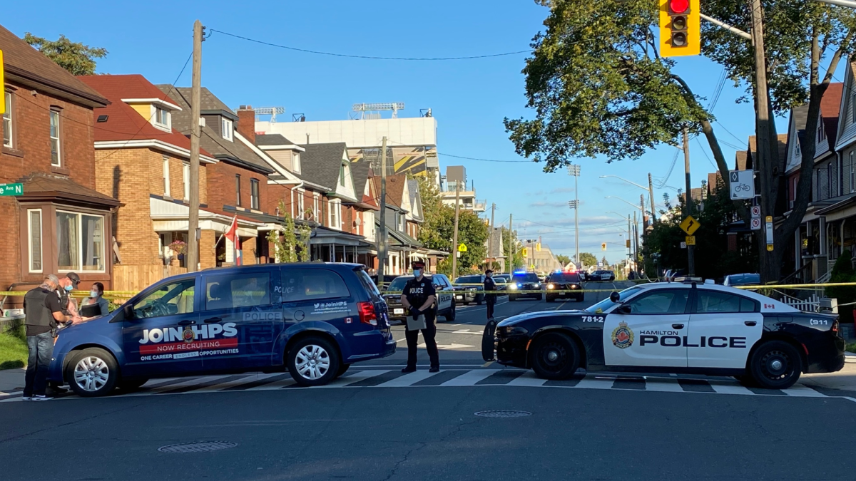 Hamilton police investigating a late afternoon shooting on Cannon Street near Barnesdale Avenue North on Sept. 24, 2021.
