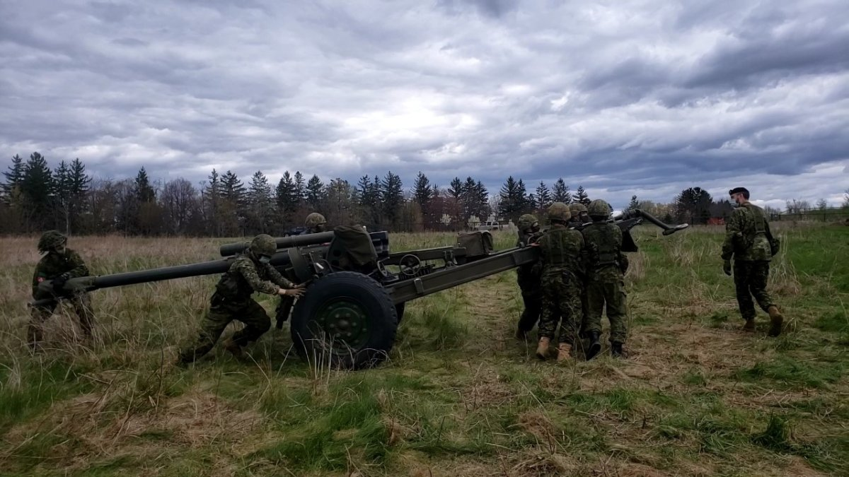 The Canadian army is training in Puslinch, Ont., this weekend.
