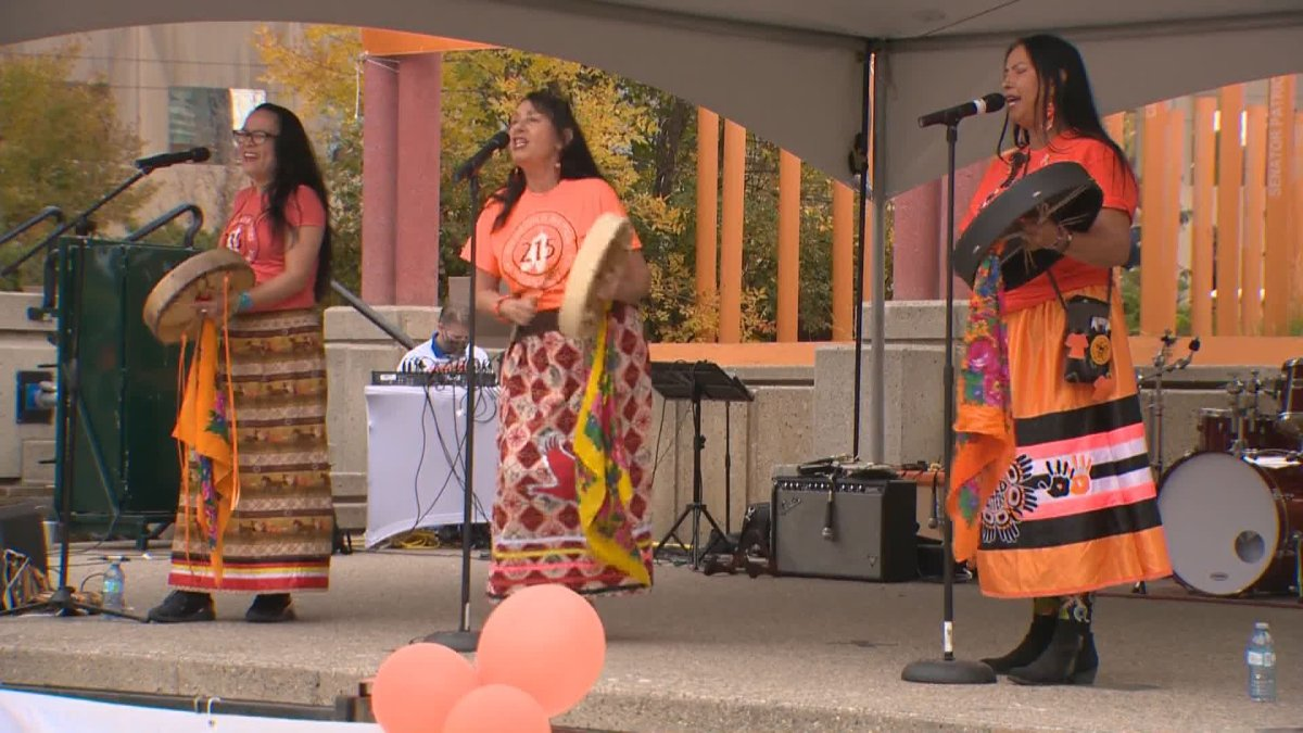 The third annual Orange Shirt Day walk was held in downtown Calgary Sept. 25, 2021.