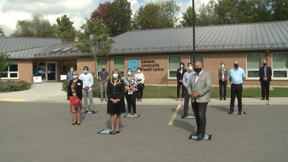 Ontario's Health Minister, Christine Elliott was on hand in Tweed to announce the creation of 8 new health teams.