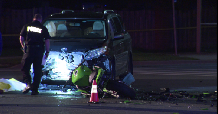 Motorcyclist dead after collision with van in Markham – Toronto | Globalnews.ca