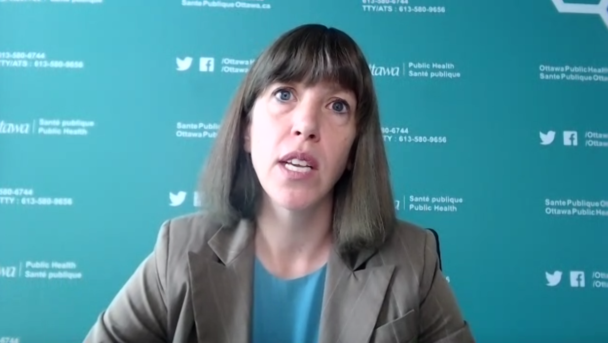 """Dr. Vera Etches speaks to Ottawa media virtually on Thurs., Sept. 2, 2021. She says COVID-19 levels in Ottawa are """"manageable"""" and is optimistic there won't be a fall lockdown."""