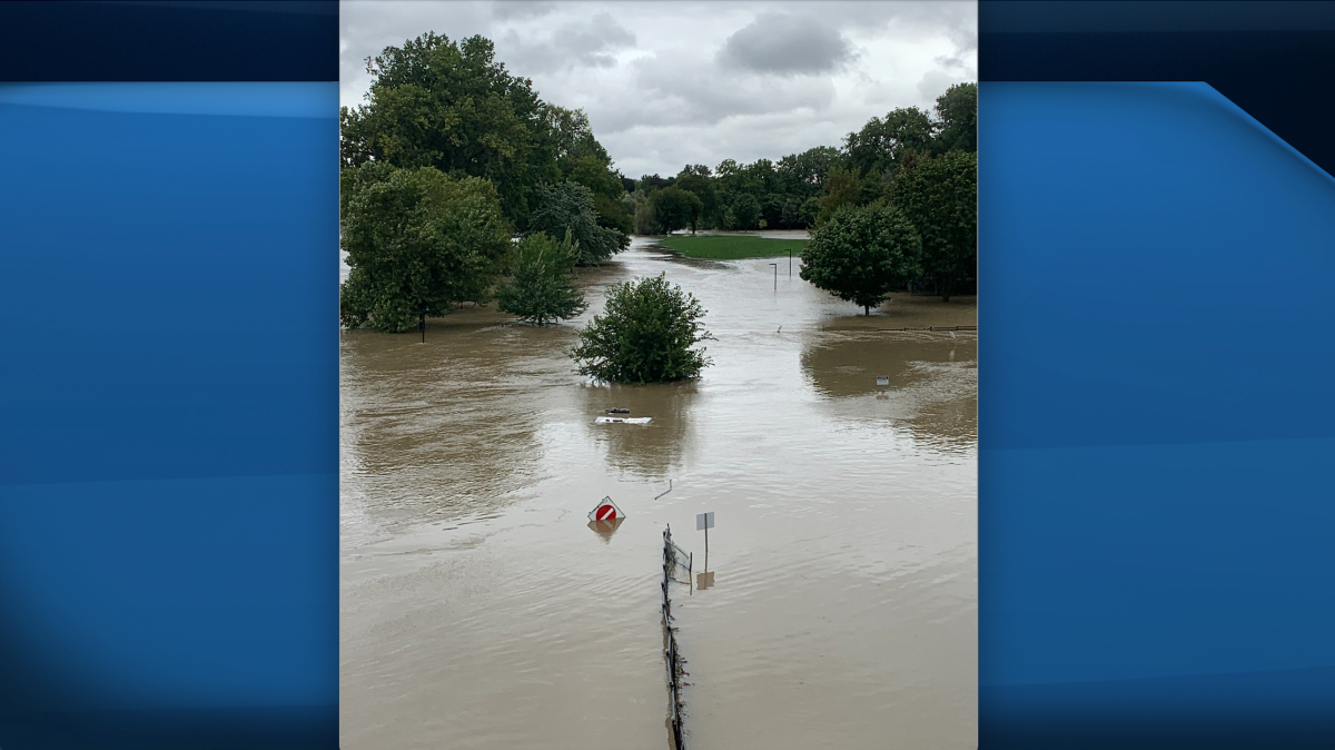 High water levels have led to flooding in Harris Park and other low-lying areas as Londoners deal with the aftermath of yesterday's heavy rainfall. Sept 23, 2021.
