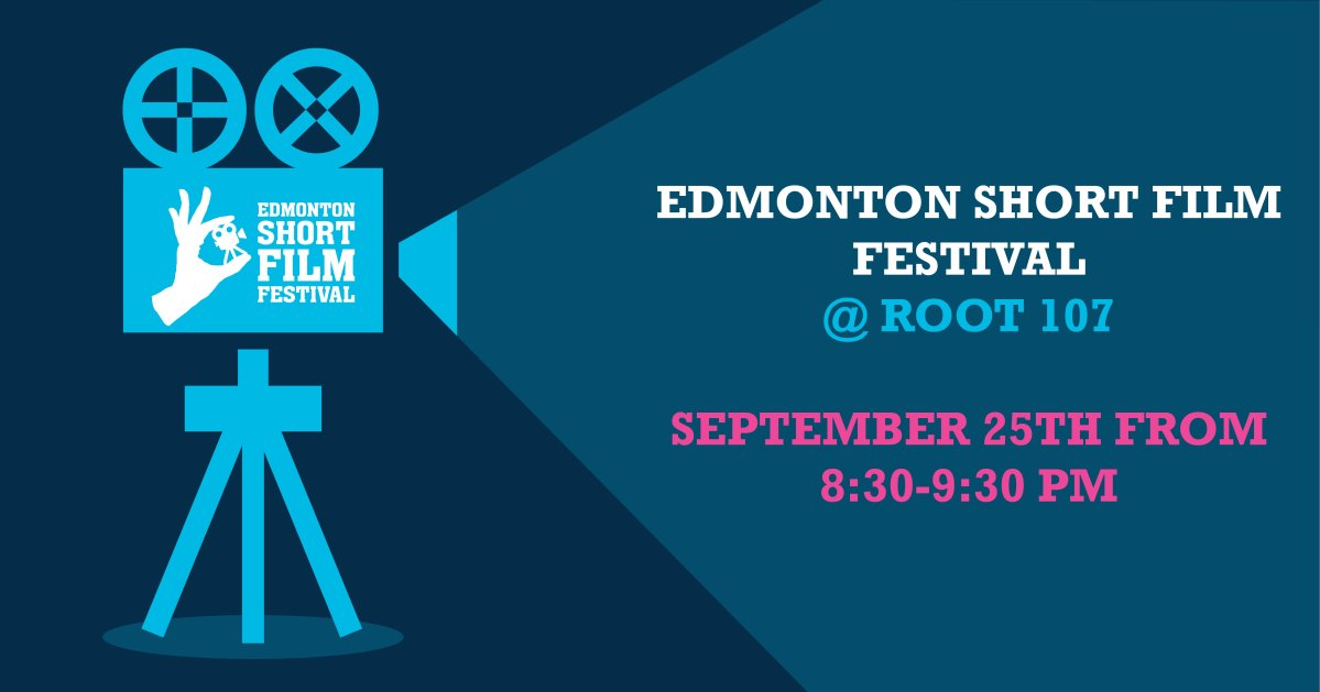 The Edmonton Short Film Festival is excited to be a part of ROOT 107! ROOT 107 is a new pop-up park taking root downtown! This inclusive public space that brings together food, drinks and free entertainment all in one spot. Root 107 is a family- and dog-friendly space located at 107 St, between Jasper Ave and 101 Ave. ESFF @ ROOT 107 will bring you a specially curated selection of short films to enjoy in a safe and inclusive setting. Join us September 25th, 2021 from 8:30-9:30 PM. Get ready to enjoy short films by Alberta independent filmmakers; the kind of short films that offer a diverse range of stories. Fueled by artistic expression and limited only by their runtime, short films transcend traditional storytelling. From documentary to animation, narrative to experimental, come out and support our Alberta filmmakers! It's free to attend! ESFF @ ROOT 107 is made possible by the Downtown Business Association. Thank you!.