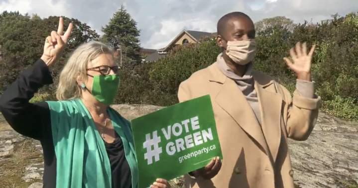 Green Leader Annamie Paul makes 1st stop in B.C. as clock winds down on election   Globalnews.ca