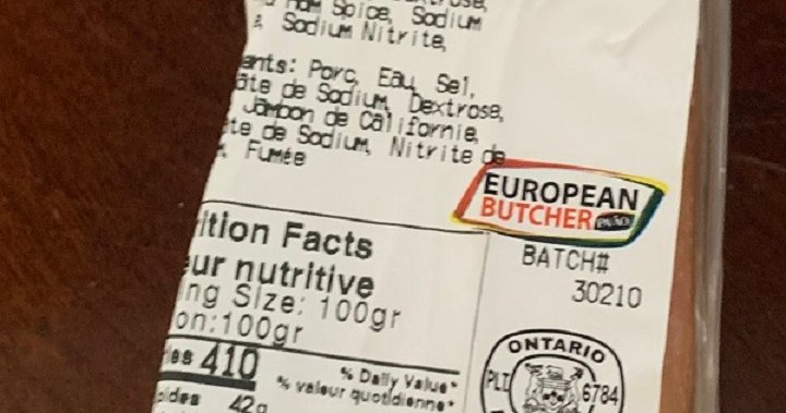 European Butcher expands bacon recall over possible Listeria concerns, products sold in Ontario
