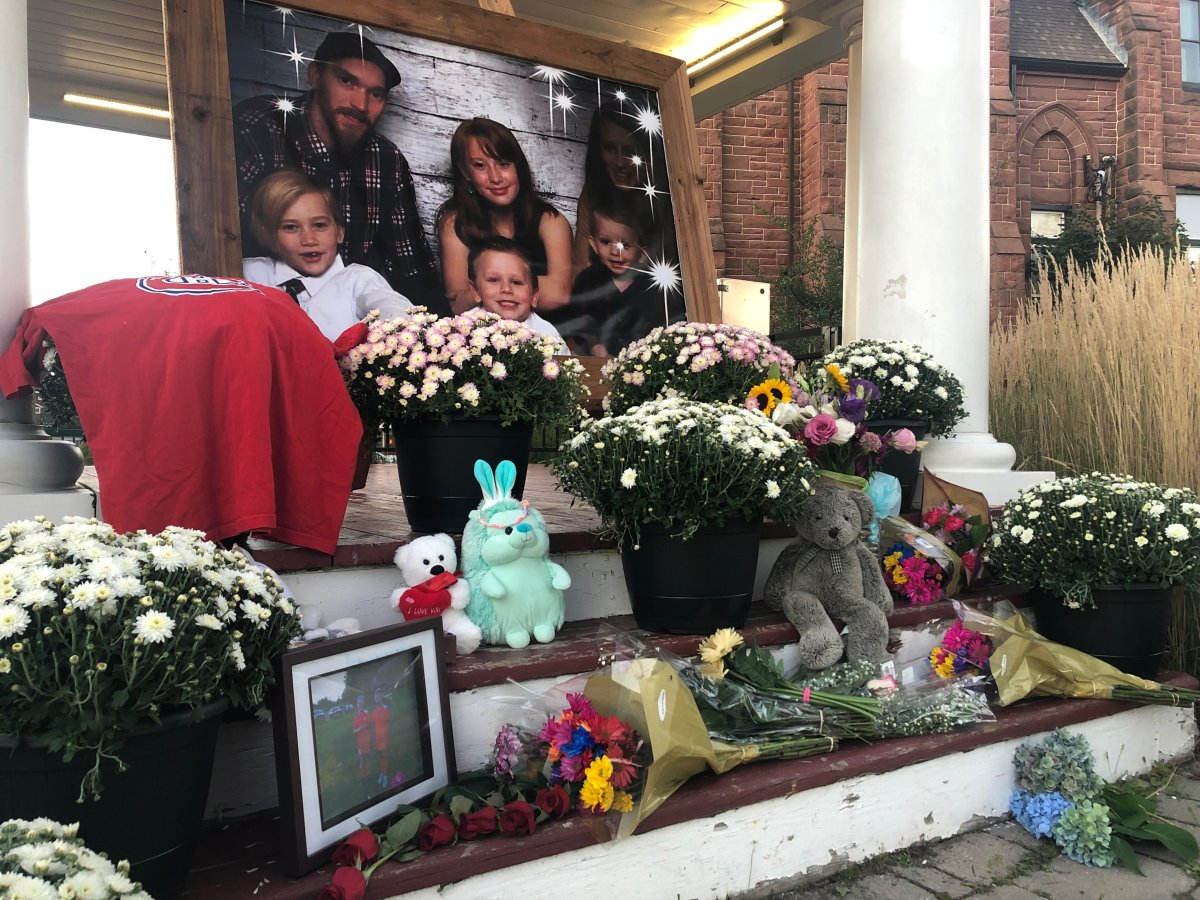 A memorial has been setup in Amherst, N.S. for a family of six found dead after a camper fire.