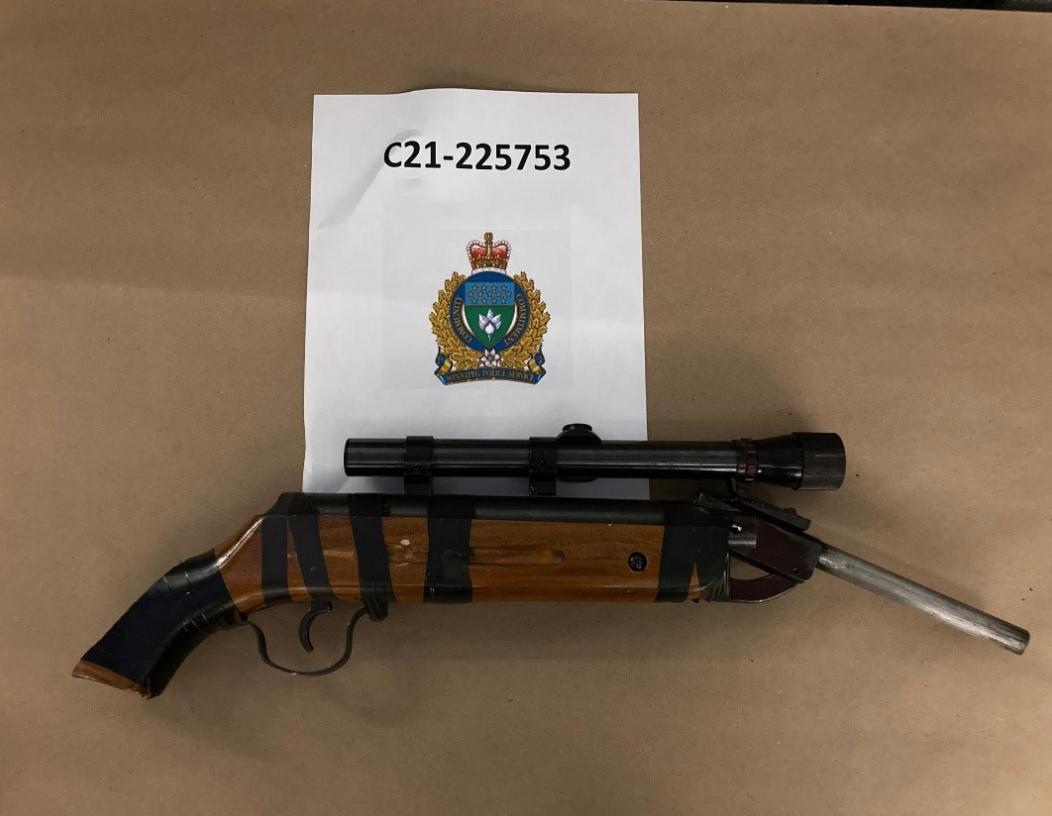 A weapon seized by Winnipeg police Sunday night.