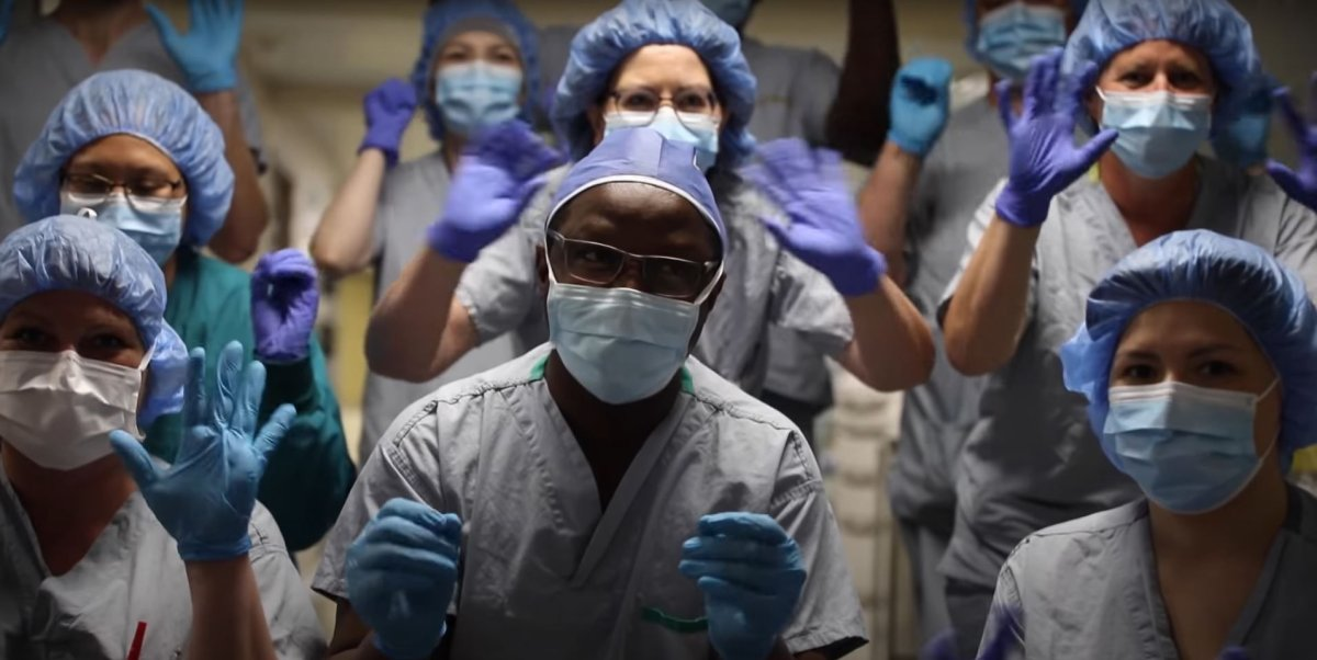 Staff at Victoria Hospital in Prince Albert participated in a video this week to boost spirits as the province deals with a fourth wave of the pandemic.