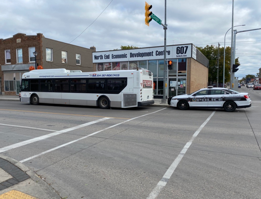 Police are investigating an incident on a transit bus.