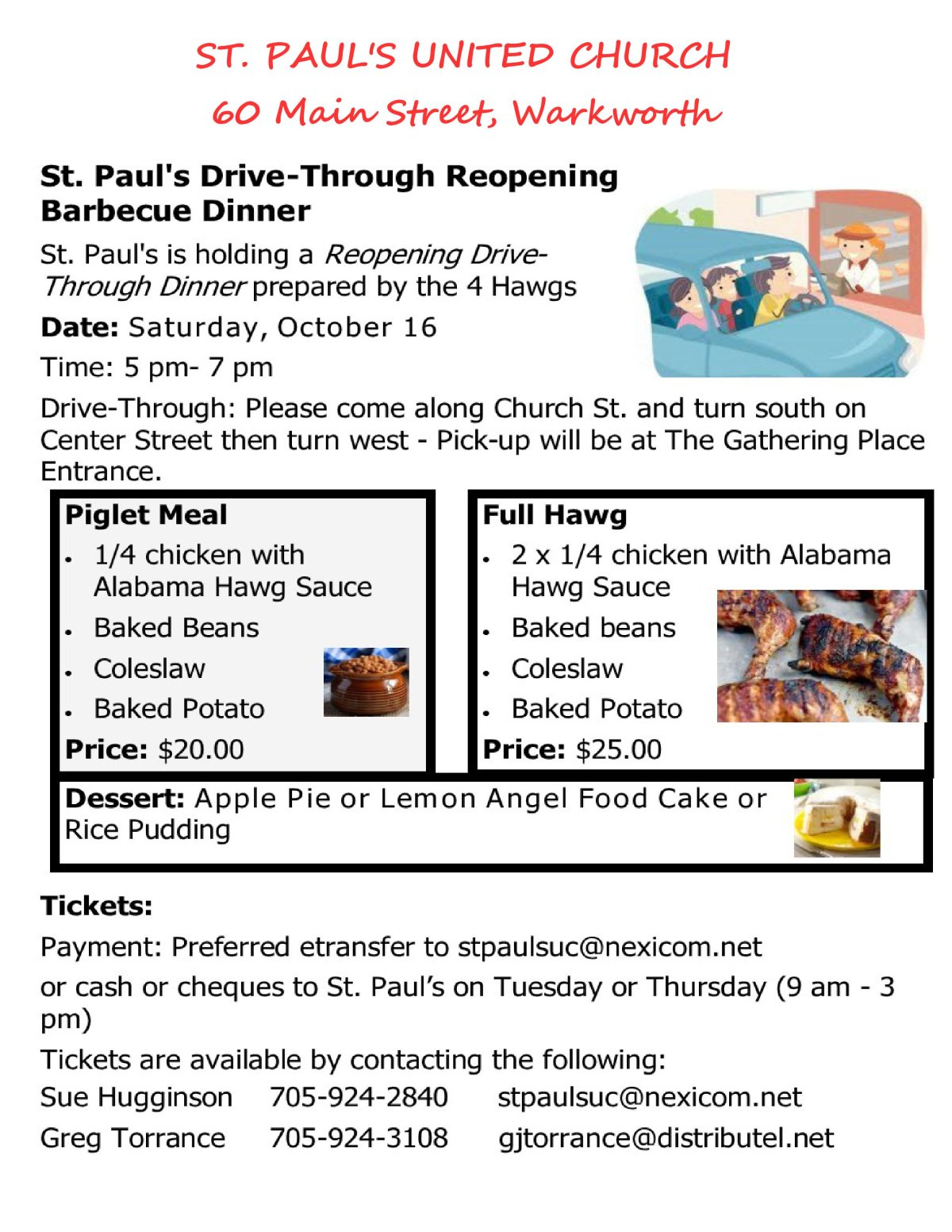 St. Paul's Drive-Through Reopening Barbeque Dinner - image