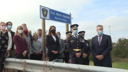 Continue reading: Three bridges along Highway 401 in Trenton, Ont., dedicated to fallen police officers