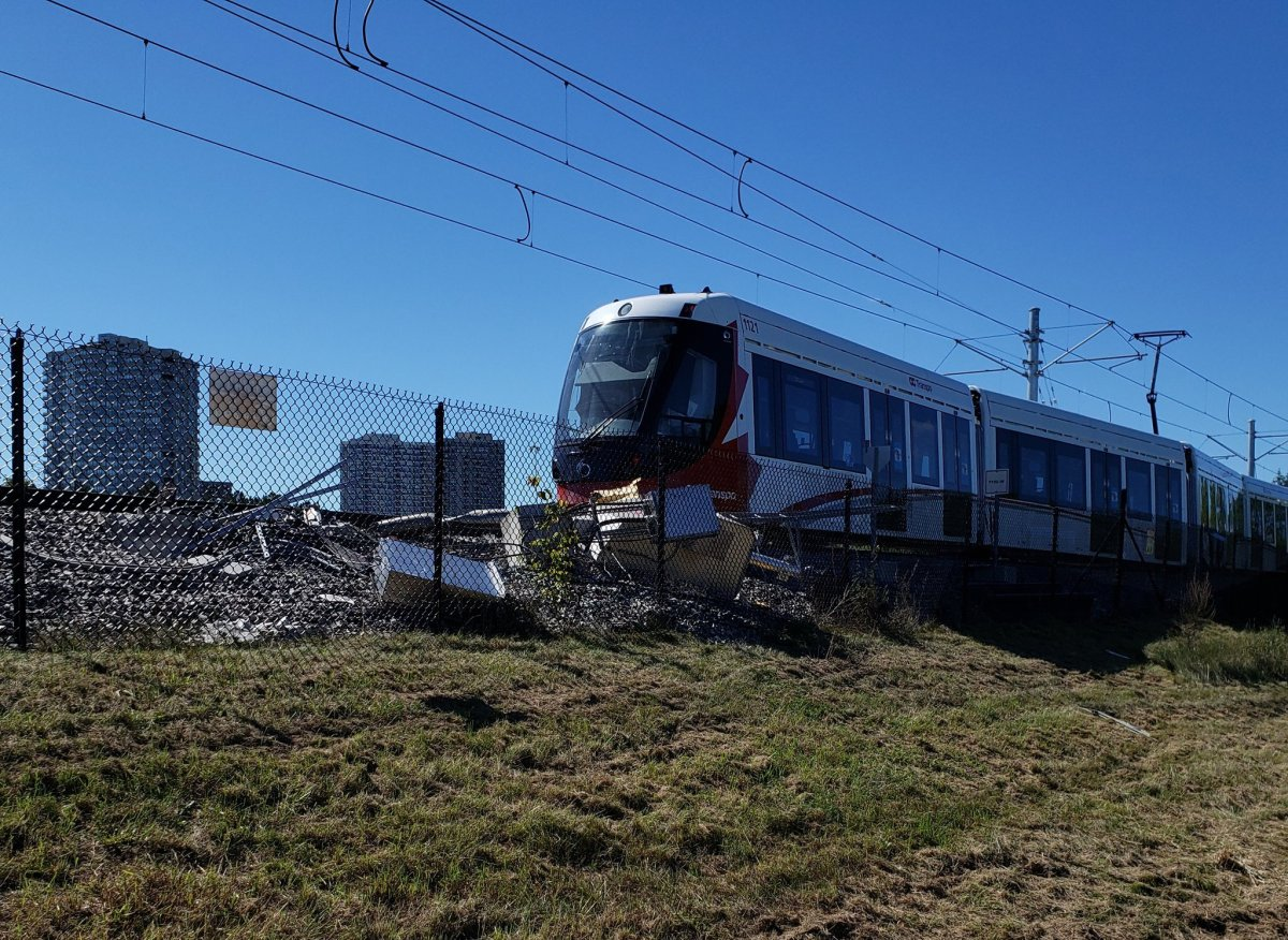 An Ottawa LRT train was derailed after a gear box came loose and was dragged along the track on Sept. 19, the city manager said Wednesday.