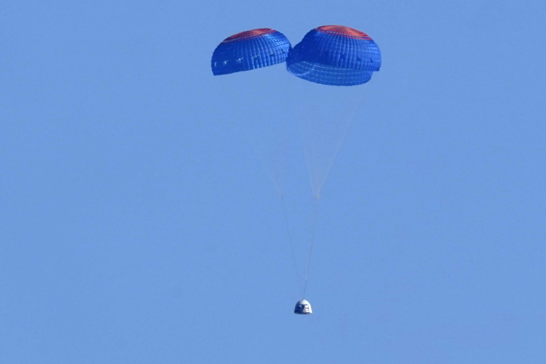 William Shatner's spaceflight on Blue Origin capsule lands safely