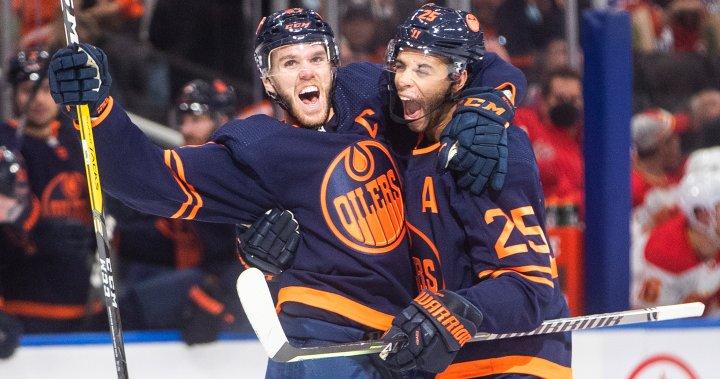 Connor McDavid's hat trick leads Edmonton Oilers over Flames – Edmonton   Globalnews.ca
