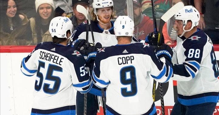 Jets blow third period lead, lose to Minnesota in overtime – Winnipeg | Globalnews.ca