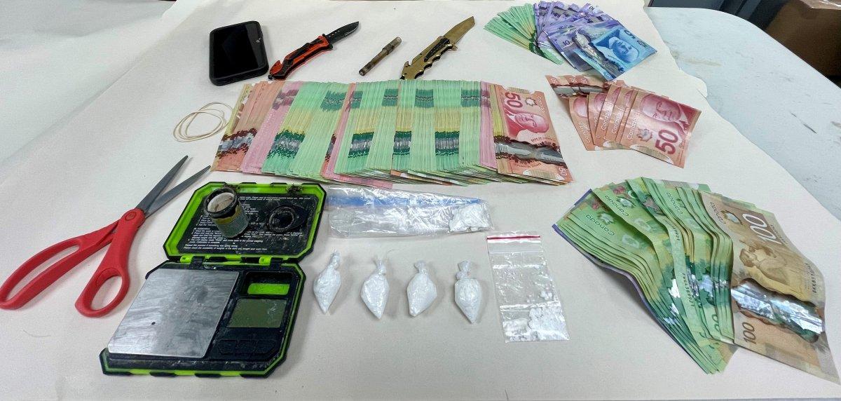 Items seized by Flin Flon RCMP Oct. 7.