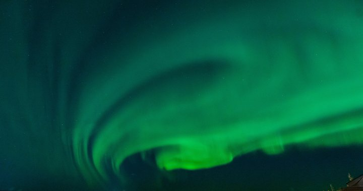Spectacular aurora borealis takes over the North American night sky