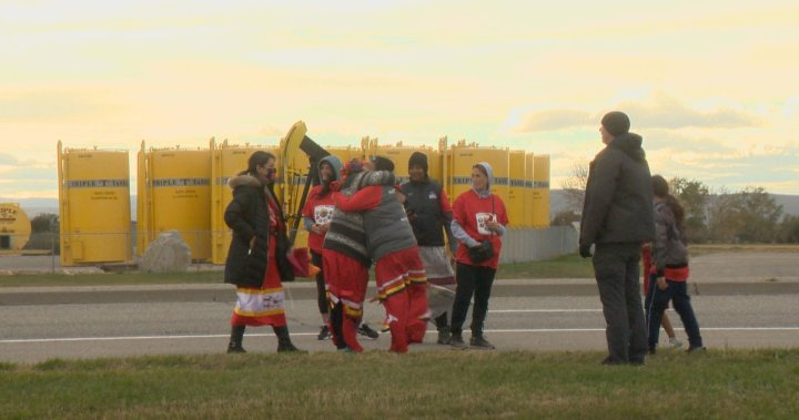 Family and friends of Joey English walk to Calgary for Sisters in Spirit Vigil