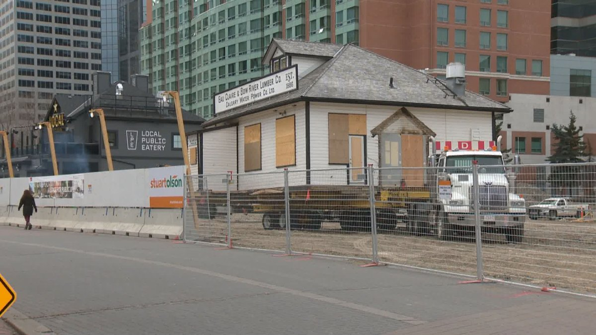 The historic Eau Claire & Bow River Lumber Co. Building is set to move to a temporary location Oct. 13, 2021.