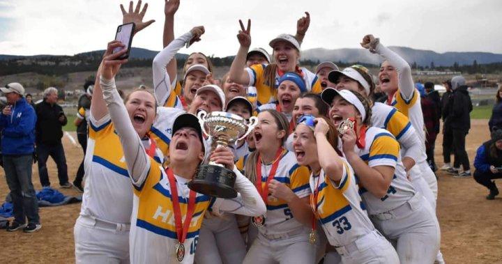 UBCO Heat softball team wins national title in just third season – Okanagan | Globalnews.ca